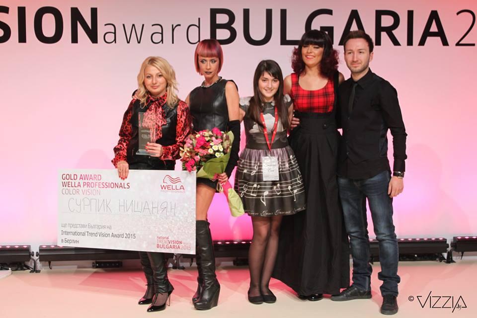 Сурпик Нишанян златно отличие Wella Professionals NTVA 2015
